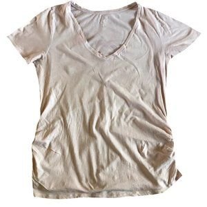Old Navy Pink Relaxed Maternity Tee Shirt Size XL